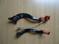 New KTM 250 SXF/EXC/EXCF 07-10 Racefx Rear Brake & Gear Pedal Lever Set
